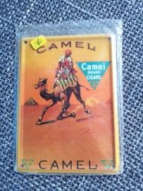 Metaalplaatje Camel 8 x 11 cm