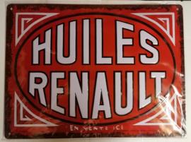 Metaalplaat Renault Huiles