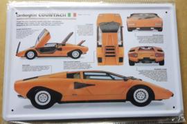 Metaalplaat Lamborghini Countach