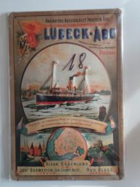 Metaalplaat Lübeck-Abo (Poseidon)