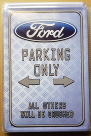 Metaalplaat Ford Parking Only
