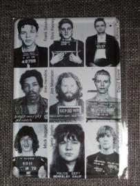 Metaalplaat bekende personen gevangenisbordje