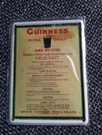 Metaalplaatje Guinness 8 x 11 cm