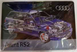 Metaalplaat Audi Avant RS2