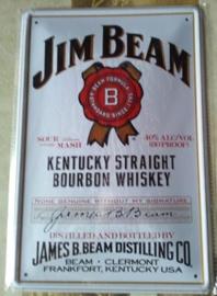 Metaalplaat Whiskey Jim Beam