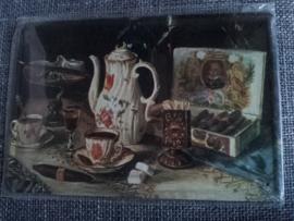 Metaalplaat koffie