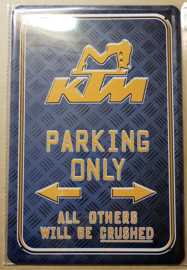 Metaalplaat KTM Parking Only
