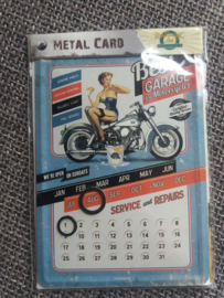 Metalen Postkaart Best Garage kalender