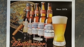 Metaalplaat Budweiser