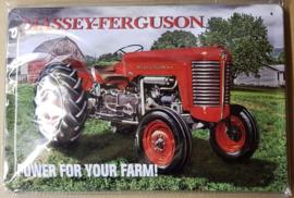 Metaalplaat Massey - Ferguson