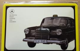Metaalplaat Mercedes Taxi
