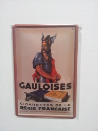 Metaalplaat Gauloises