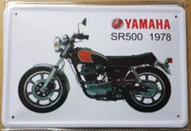 Metaalplaat Yamaha SR500 1978