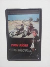 Metaalplaat Easy Rider: Dennis Hopper - Peter Fonda