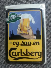 Metalen Postkaart Carlsberg
