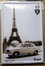 Metaalplaat Peugeot 403