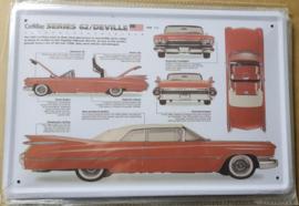 Metaalplaat Cadillac series 62/Deville
