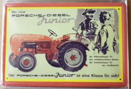 Metaalplaat Porsche - Diesel Junior
