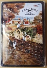 Metaalplaat John Deere Kalender