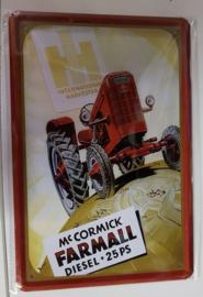 Metaalplaat McCormick Farmall Diesel 25 PS