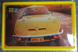 Metaalplaat Opel GT