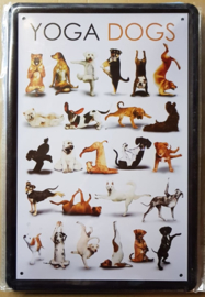 Metaalplaat hond: Yoga Dogs