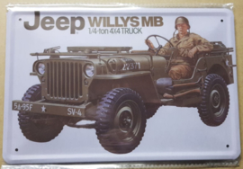 Metaalplaat Jeep Willys MB 1/4 ton 4x4 truck
