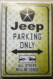 Metaalplaat Jeep Parking Only