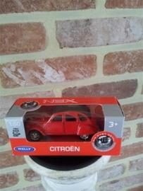 Schaalmodel Citroën 1/60 rood
