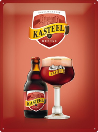 "Metaalplaat Kasteelbier ""rouge"""