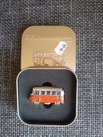 Magneet in 3D oranje busje