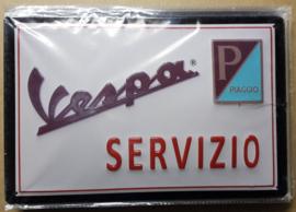 Metaalplaat Vespa Servizio
