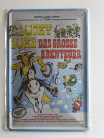 Metaalplaat Lucky Luke