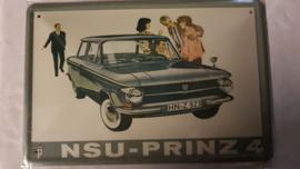 Metaalplaat NSU Prinz 4
