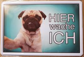 Metaalplaat hond