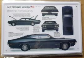 Metaalplaat Ford Torino Cobra