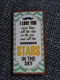 "Magneet spreuk ""stars in the sky"""