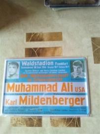 Metaalplaat Muhammed Ali - Karl Mildenberger