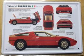 Metaalplaat Maserati Bora