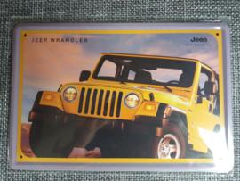 Metaalplaat Jeep Wrangler
