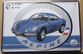 Metaalplaat Renault Alpine A110