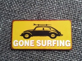 "Magneet spreuk ""Gone surfing"""