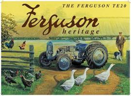 Metaalplaat Massey - Ferguson TE20
