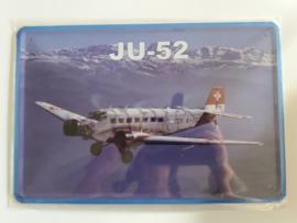 Metaalplaat vliegtuig JU-52