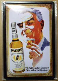 "Metaalplaat Cork Distilleries ""Paddy"""
