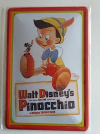 Metaalplaat Pinocchio