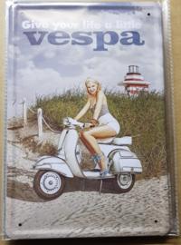 Metaalplaat Vespa