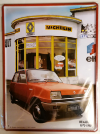 Metaalplaat Renault 5