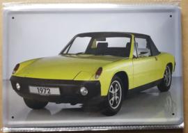Metaalplaat Porsche 1972
