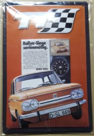 Metaalplaat Audi - NSU